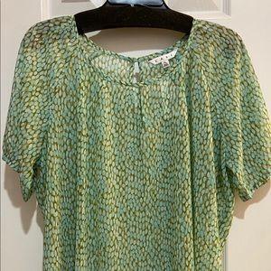 CAbi pebble green blouse